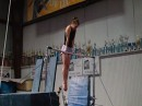 Sylvie Borschel Trains a Yamawaki... on Uneven bars!