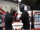 Yves Edwards sparring